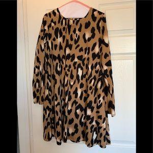 Leopard Print Sweater Dress - Size M